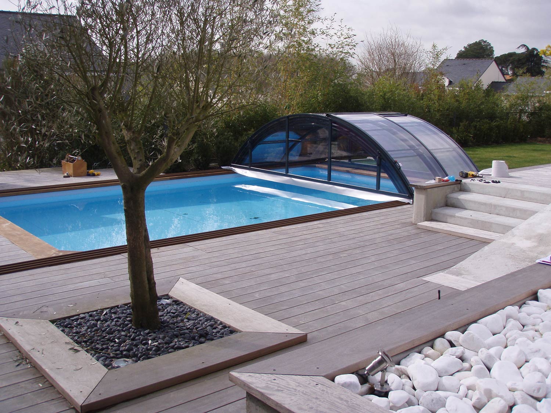 aménagement extérieur Pornic terrasse bois piscine TJS aluplast