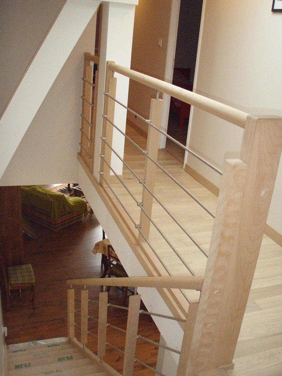 Bouaye escaliers bois nantes menuiseries TJS aluplast