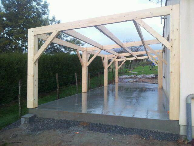 charpente garage extension rouans tjs aluplast