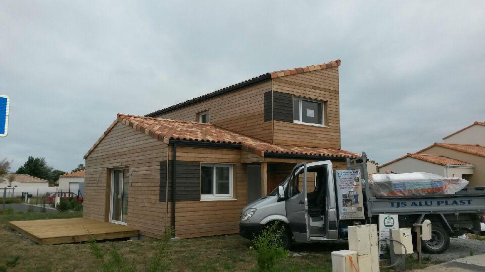 terrasse bois pornic maison bois menuiseries TJS