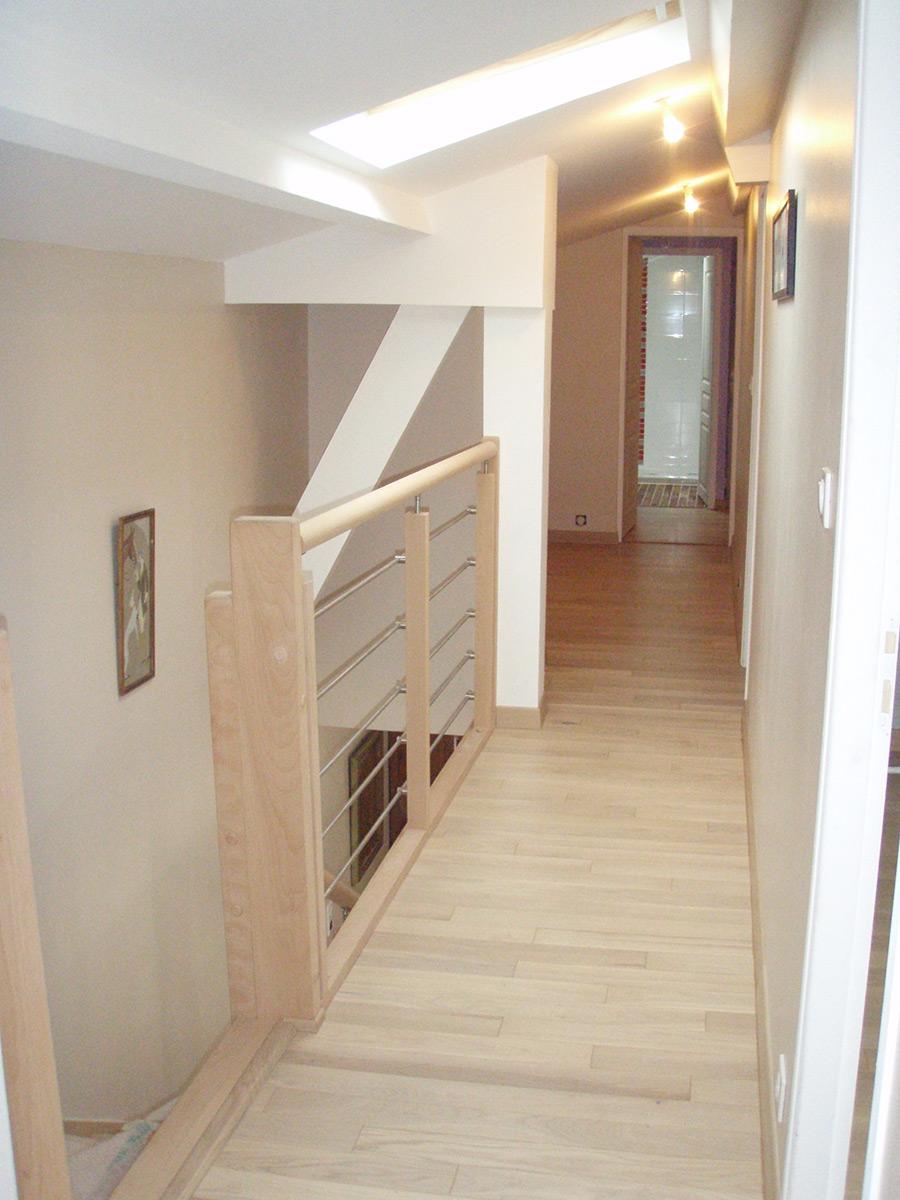 tjs aluplast parquet escalier bois Ste Pazanne aménagements menuiseries